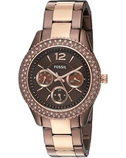 Fossil Women's Quartz Stainless Steel Automatic Watch - Brown