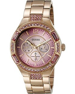 GUESS Women's Trend-Right Rose Gold-Tone Sporty Watch