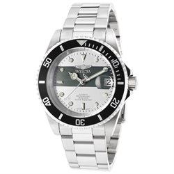 Invicta Men's 16131 Pro Diver Stainless Steel Automatic Watch with Black Bezel