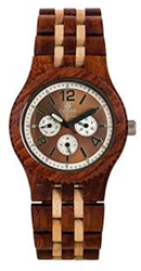 Tense Adventure Vernon Triple Dial Multifunction Jumbo Rosewood Maple Wood Watch