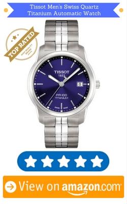 Tissot Men's Swiss Quartz Titanium Automatic Watch, Color:Silver-Toned
